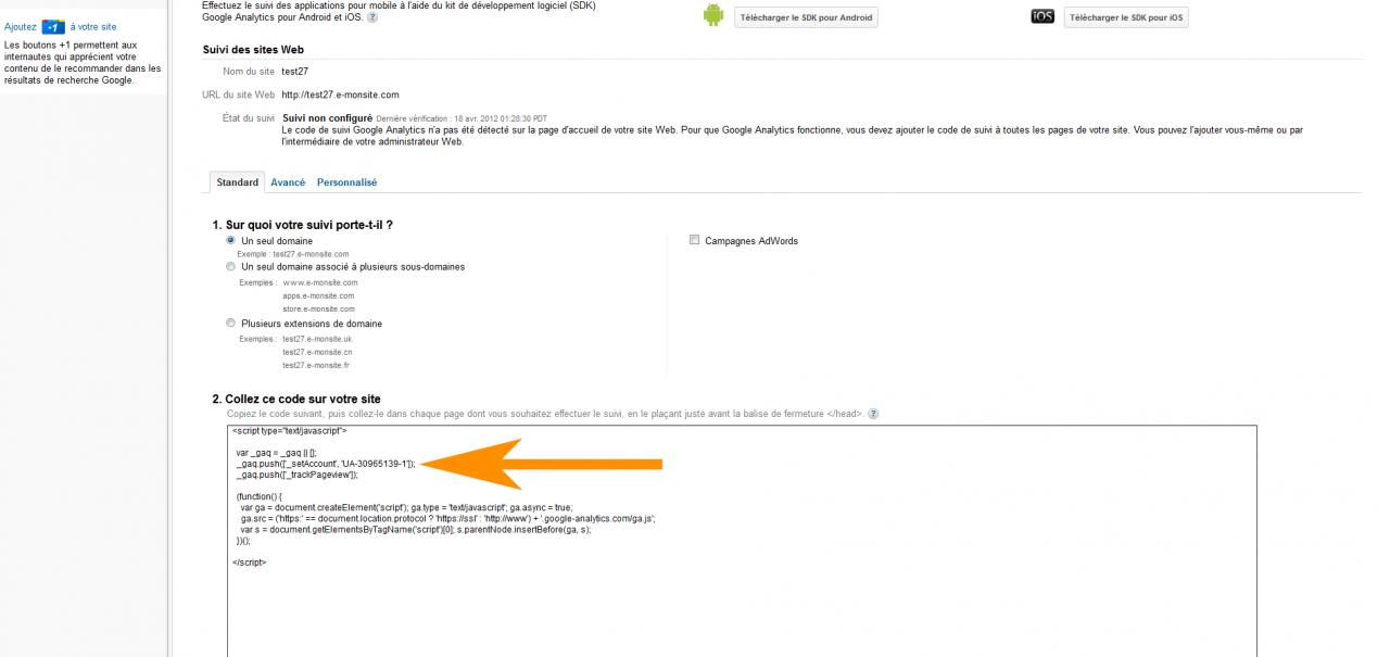 Comment Parametrer Google Analytics Sur E Monsite