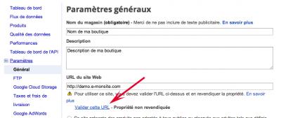 Comment valider son site sur Google Merchant Center