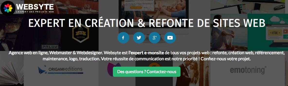 Websyte expert creation site web e monsite