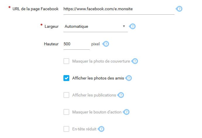 Widget facebook 1