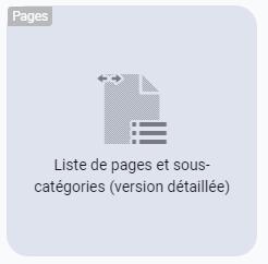Choisir le widget liste des éléments d'une catégorie