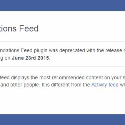 Widget recommandations