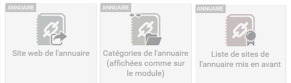 Widgets annuaire